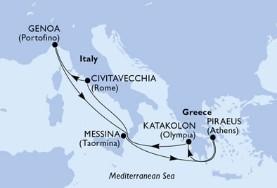 MSC Magnifica - Itálie,Řecko (z Janova)