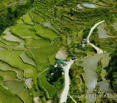 Vulkány a rýžové terasy Filipín