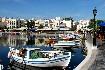 Kréta romantický přístav lodě Řecko