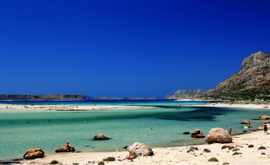 Kréta pláž Balos Gramvousa čisté moře opalování Řecko