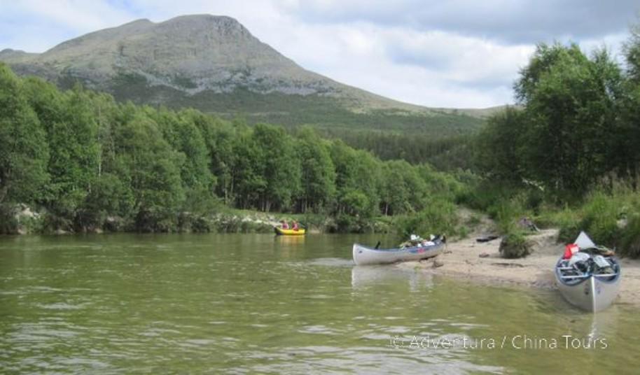 Letní řeky Skandinávie (fotografie 1)