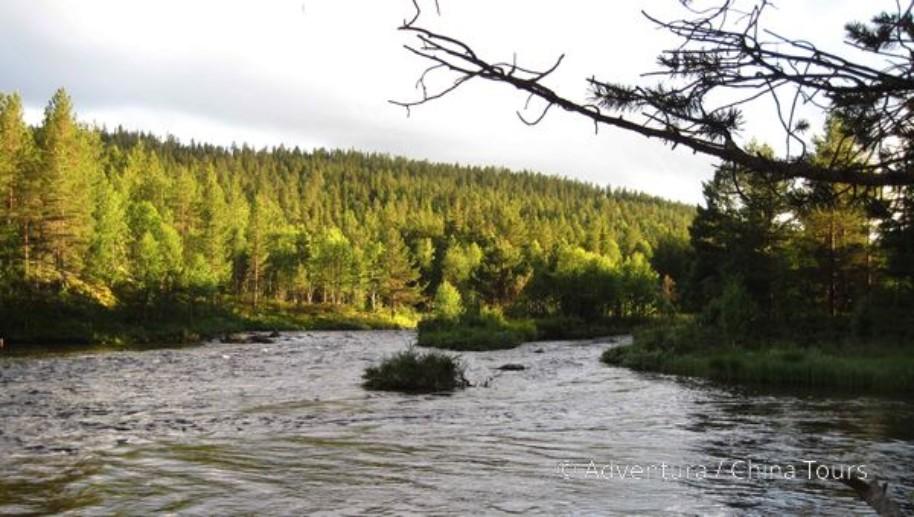Letní řeky Skandinávie (fotografie 9)