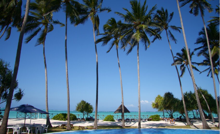 Nádherná pláž v Keni