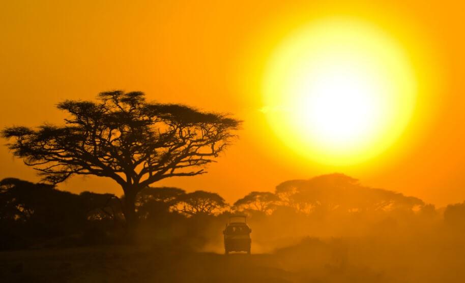 Výlet na safari v Keni
