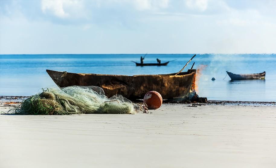 Krásná pláž v Keni Kilifi Beach