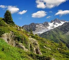 Savojské Alpy s kartou