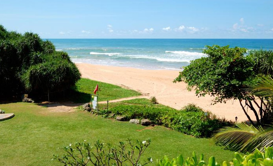 Široká písečná pláž, Bentota