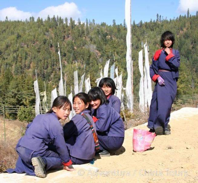 Bhútán na kole v pohodě (fotografie 10)