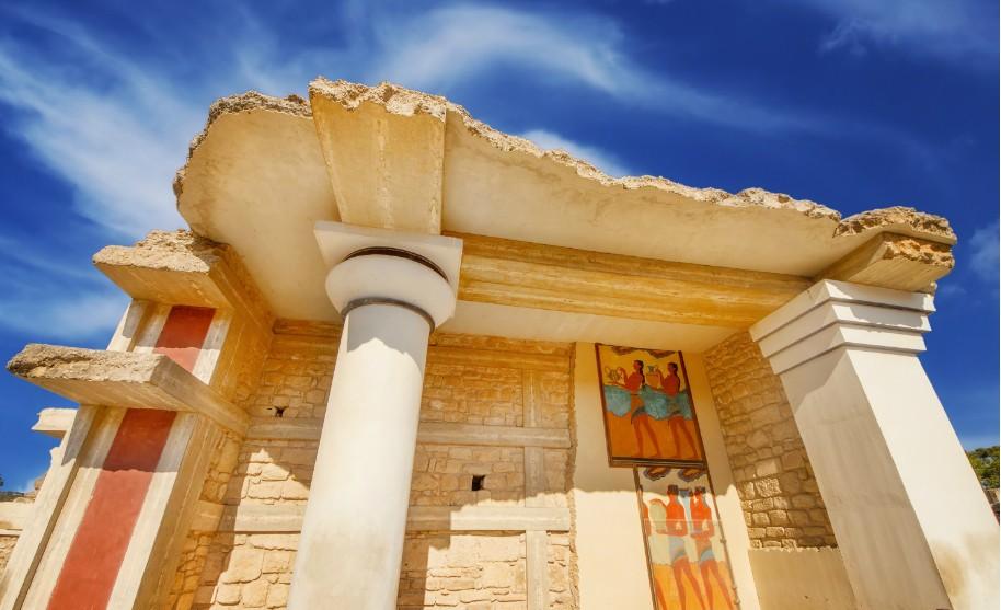 Kréta palác Knóssos antické památky v Řecku
