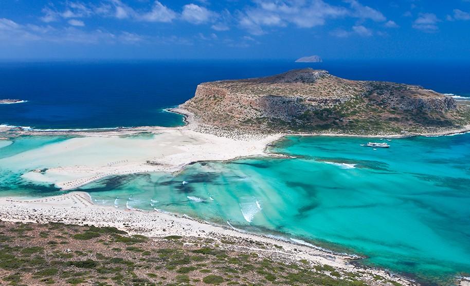 Kréta pláž Balos Gramvousa ostrov Řecko