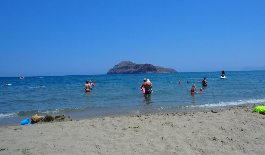 Kréta Agia Marina moře pláž písek Řecko ostrov Agio Theodori
