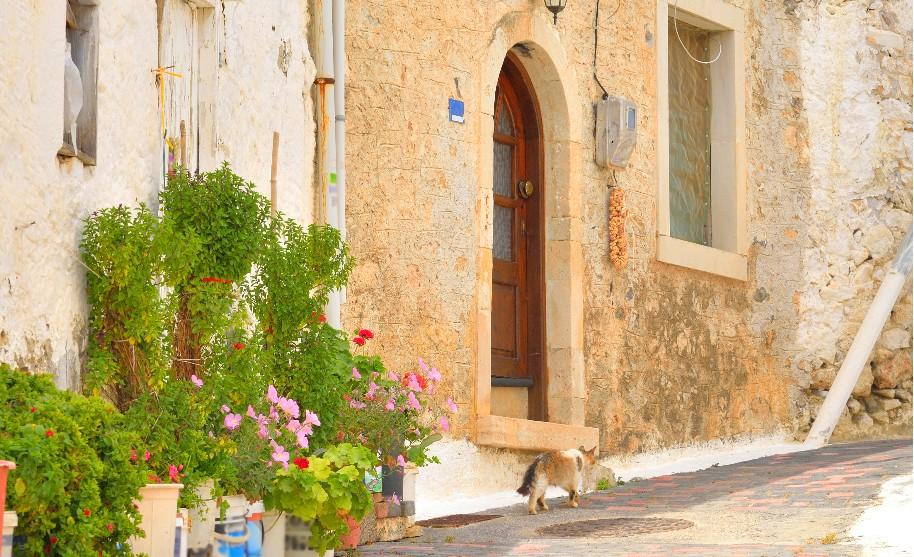 Kréta Hersonissos romantika ulička staré město Řecko