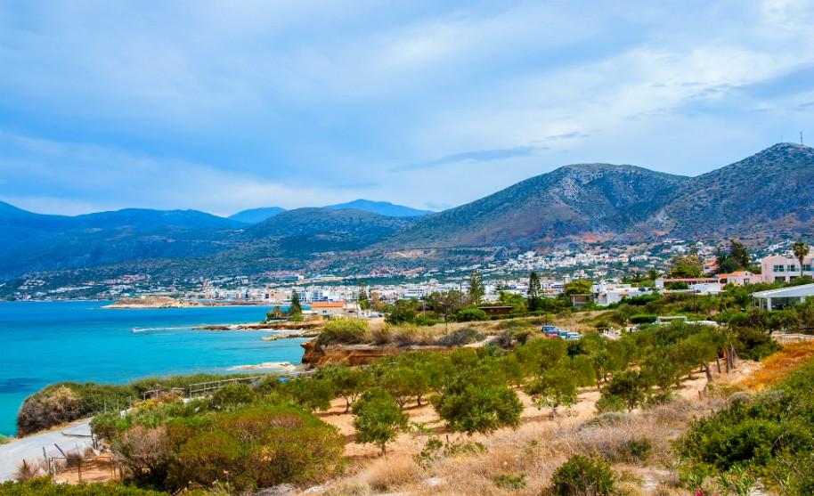 Kréta Hersonissos moře pobřeží panorama Řecko