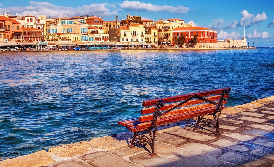 Kréta Chania maják moře pobřeží romantika Řecko