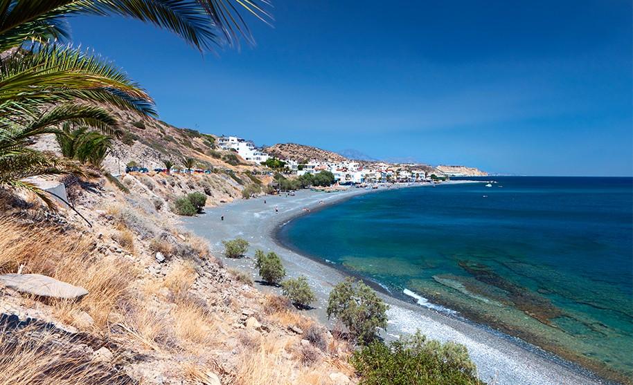 Kréta Ierapetra pláž Mirtos písek moře Řecko