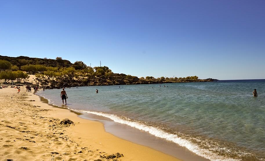 Kréta Paleochora pláž zlatý písek moře slunce Řecko