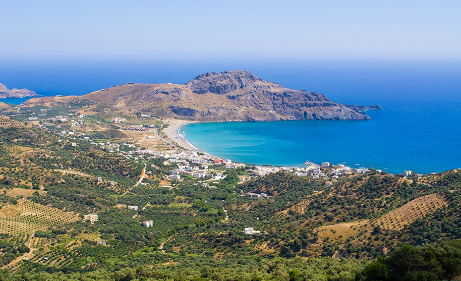 Kréta Plakias pobřeží letovisko modré moře Řecko