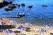 Kréta Plakias pláž písek zlatý moře loď Řecko