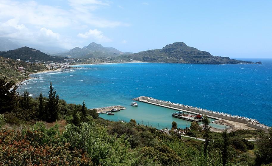 Kréta Plakias pobřeží letovisko modré moře přéstav Řecko