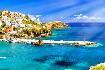 Kréta Rethymno přístav město moře lodě romantika Řecko