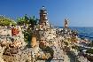 Rhodos kameny pobřeží slunce západ slunce romantika maják Řecko