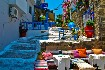 Rhodos město ulička romantika slunce motorky Řecko