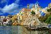 Řecko moře město uličky přístav ostrov molo Řecko