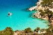 Řecko čisté moře slunečné pobřeží loď Kréta