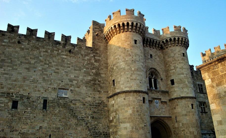 Rhodos město středovek hrad pevnost Řecko