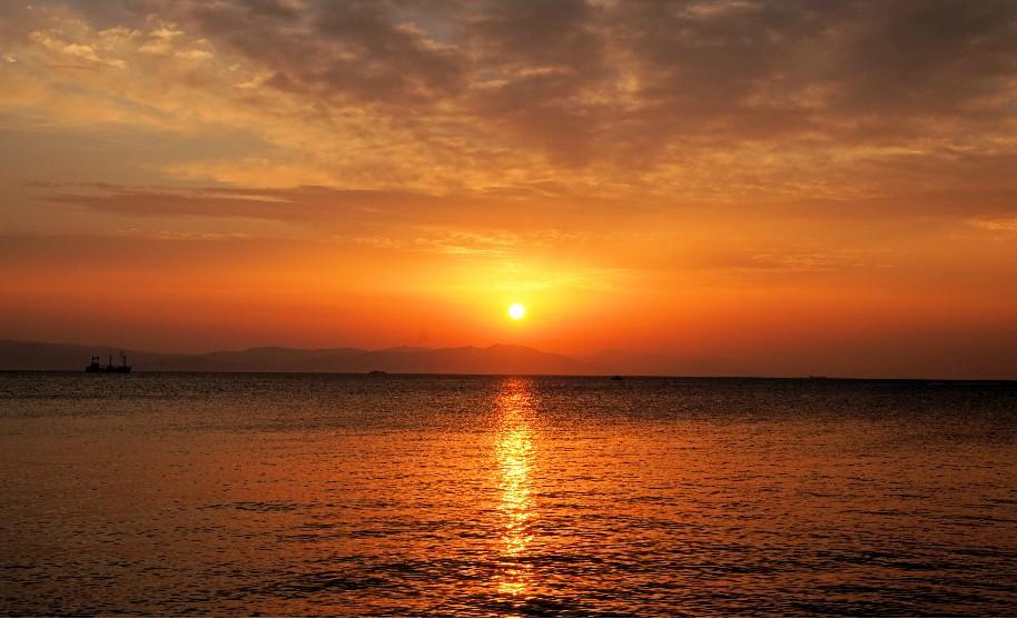 Kos moře slunce pláž romantika západ slunce Řecko