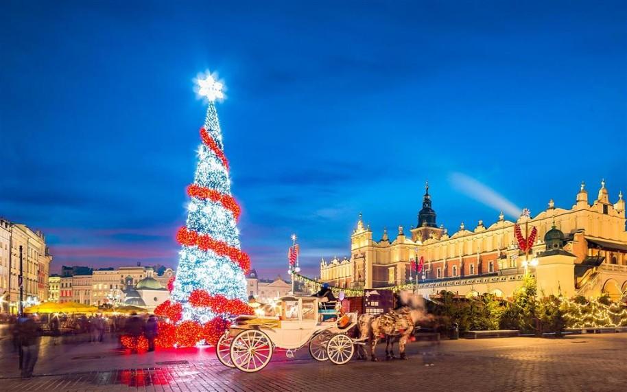 Adventní trhy v Krakově (fotografie 1)