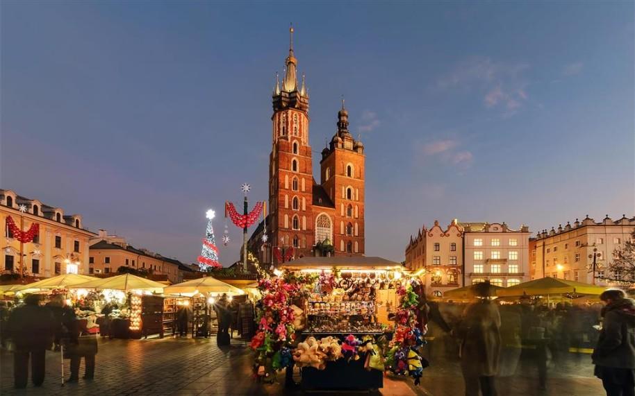 Adventní trhy v Krakově (fotografie 6)