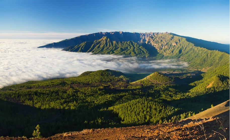 vulkanická oblast de Taburiente na La Palma