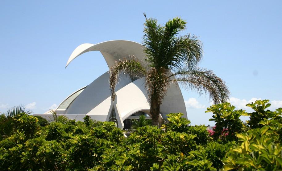 koncertní síň Auditorium v hlavním městě Santa de la Cruz na Tenerife
