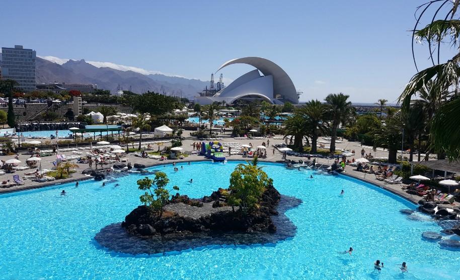 komplex bazénů Lago Martianez Puerto de la Cruz na Tenerife
