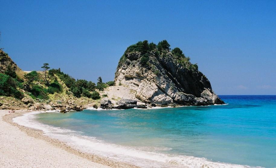 Zátoka Potami na Samosu v Řecku