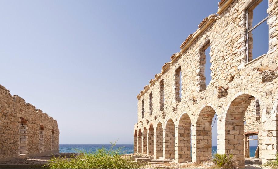 Zřícenina v Karlovassi na Samosu v Řecku