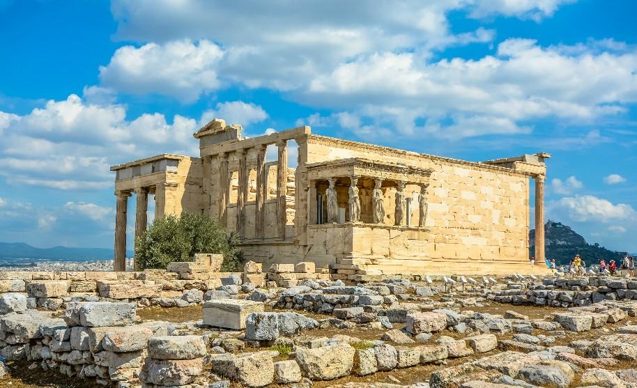 Athény v Řecku Akropole a chrám Parthenon