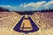 Olympijský stadion v Athénách v Řecku modrá obloha