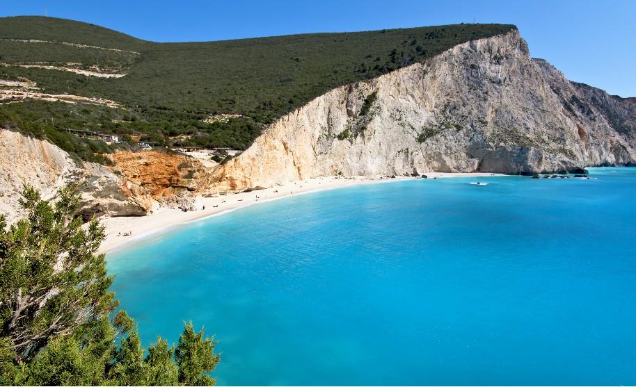 nejkrásnější pláž na Lefkadě v Řecku