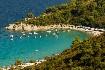 romantická zátoka na Sithonii na CHalkidiki v Řecku