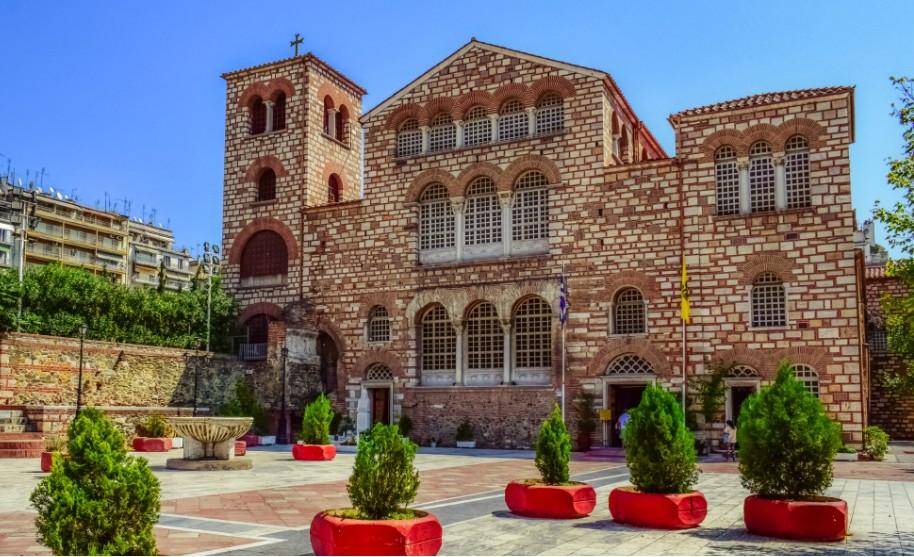 kostel a poutní místo v městě Soluň Thessaloniki v Řecku