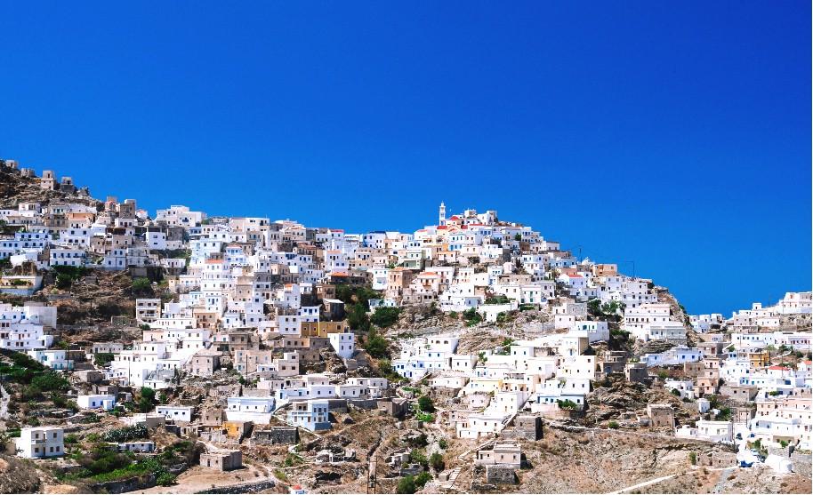 Město na hoře na Karpathosu