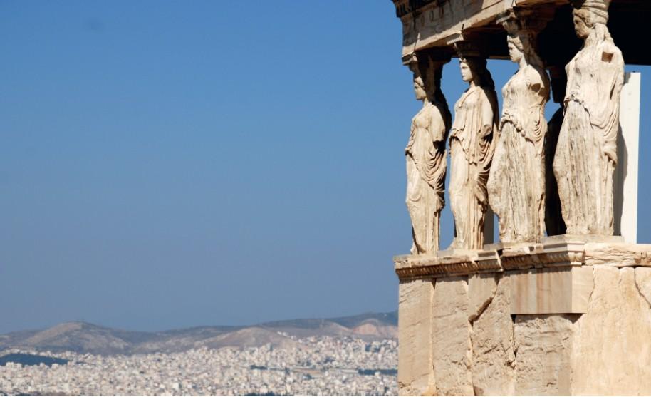 Acropolis v Athénách v Řecku