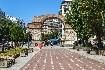 Galeriův oblouk na promenádě v Soluni na Olympské riviéře