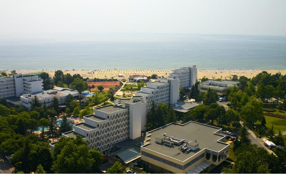 Hotely na pláži v Albeně v Bulharsku