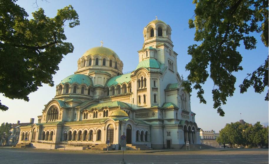 Katedrála Alexandra Něvského v Sofii v Bulharsku