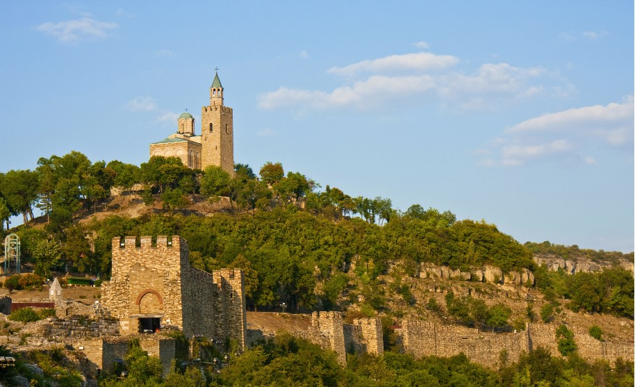 Pevnost Tsarevec ve městě Veliko Tarnovo v Bulharsku