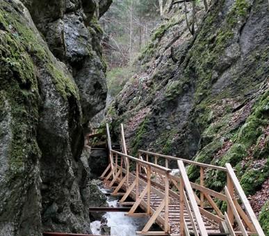 Hohe Wand a soutěska Steinwandklamm