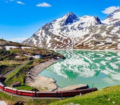 Švýcarsko s panoramatickým vlakem Unesco a Lichtenštejnsko